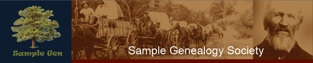Sample Genealogy Society 2011