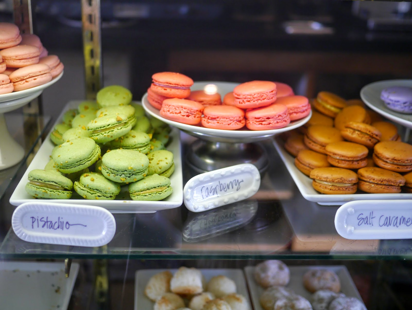 so this afternoon after school we met up with a few friends and went on a macaron treasure hunt visiting four local stores that sell macarons masseu0027s
