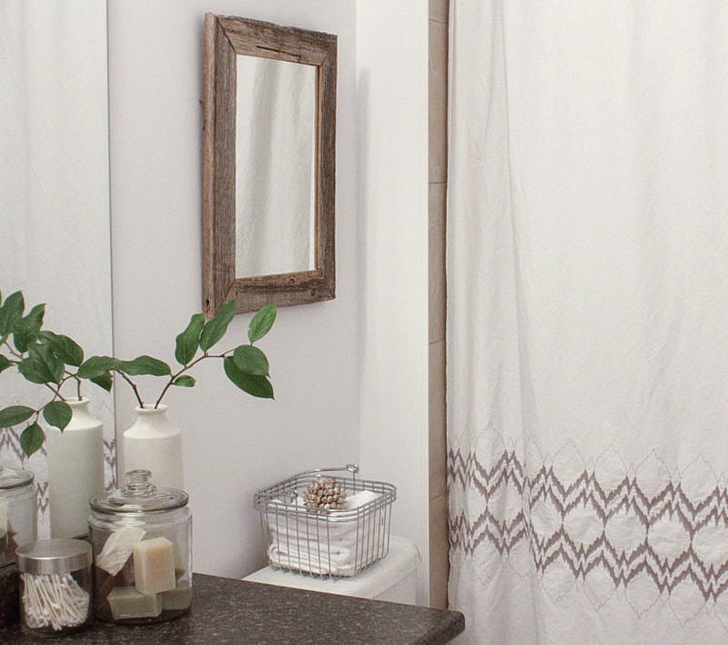 organic shower curtain, eco-friendly bathroom