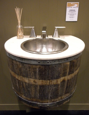 Ok, Technically This Is A Table, But Image, You Could Slap On One Or Two  Sinks Et Voila Youu0027ve Got Whiskey Barrel Vanities With Tons Of Counter  Space.