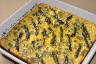 clafoutis di asparagi
