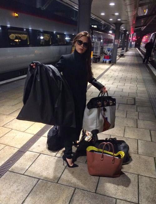 By train to the Fashion Show Gar | Not posh! Here goes Victoria Beckham train
