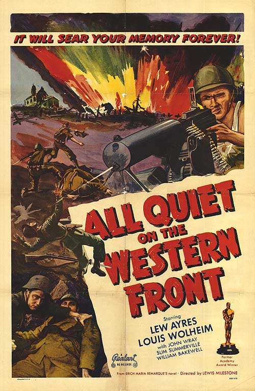 "a comparison of novels all quiet on the western front and the wars Film and literature the novel all quiet on the western front and its film adaptation erich maria remarque's ""all quiet on the western front"" is a book."