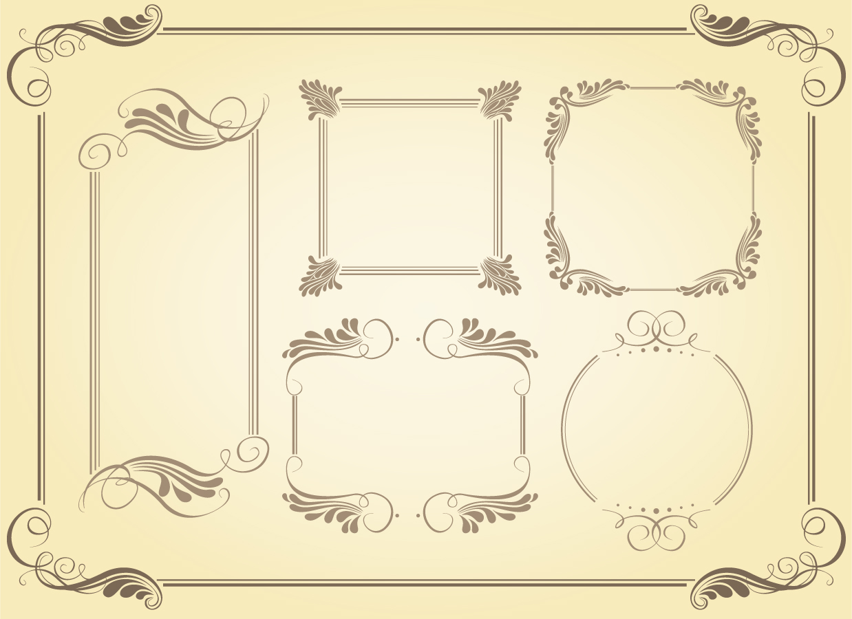 洗練されたシンプルなフレーム simple frame vector イラスト素材