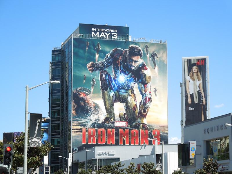 Giant Iron Man 3 film billboard