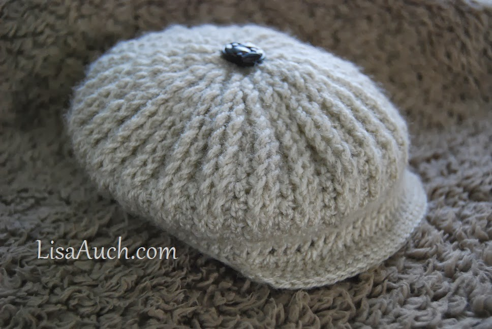 Cute As A Button Brimmed Cap Hat For Baby Free Crochet Patterns