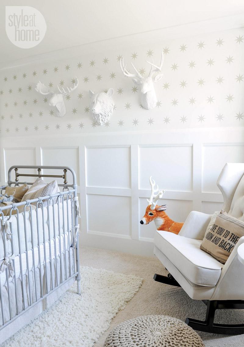 Board and Batten in a Baby Nursery