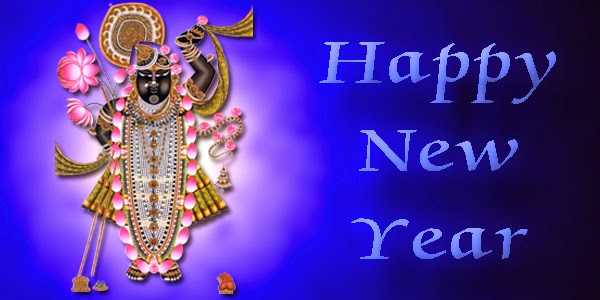 happy new year 2015 god shrinathji hd wallpaper