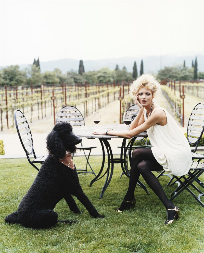 via fashioned by love | Anja Rubik in Vogue UK August 2009 (photography: Arthur Elgort, styling: Evyan Metzner)