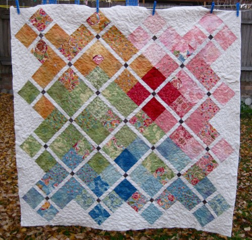 """Doubly charming"" charm pack quilt tutorial"