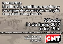 """Conferencia: """"el exilio de los republicanos españoles en el Norte África y los campos de concentrac"""