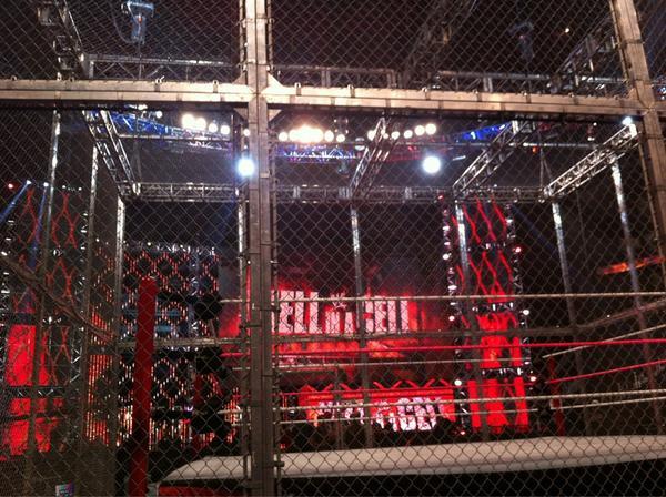 Imagenes la celda infernal antes de que inicie hell in a cell 2012