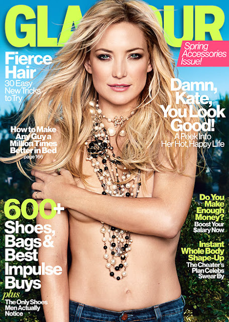 Kate Hudson Poses Topless on Glamour's April Cover  Read more: http://www.usmagazine.com/celebrity-body/news/kate-hudson-poses-topless-on-glamours-april-cover-201353#ixzz2NFXNHdDK  Follow us: @usweekly on Twitter | usweekly on Facebook