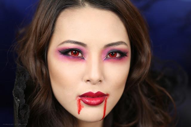 tutorial sexy vampire makeup halloween 2013 from head