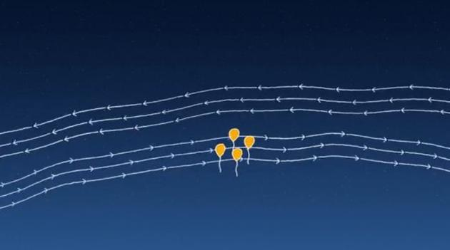 Google internet-beaming balloons to reconnect people