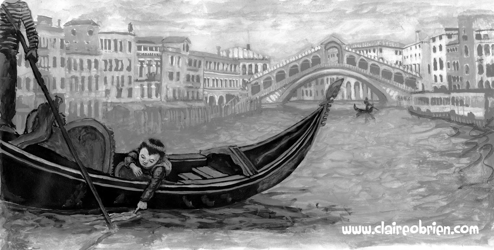 Venice Children's Picture Book Art Claire O'Brien