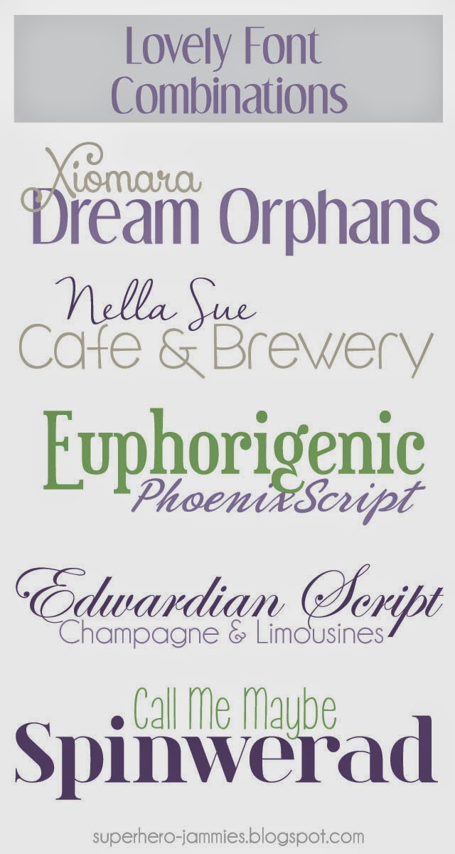 5 Lovely Font Combinations for Spring