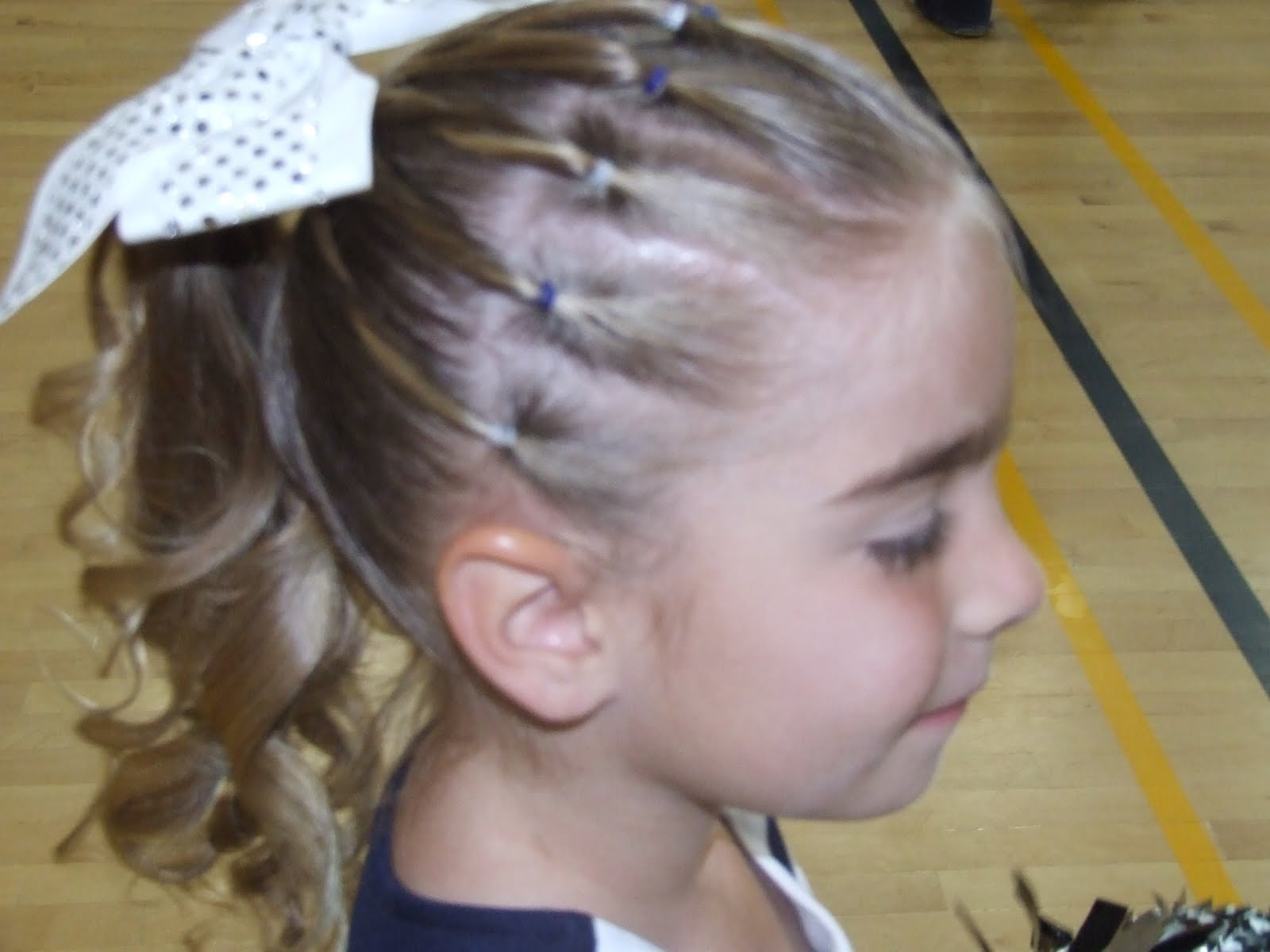 cheer competition hair