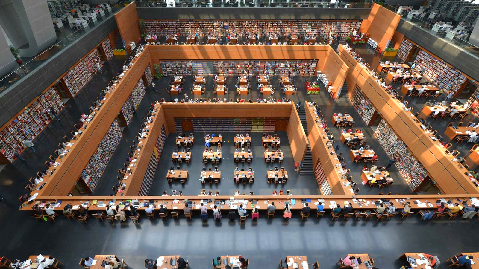 Interior of the National Library of China, Beijing