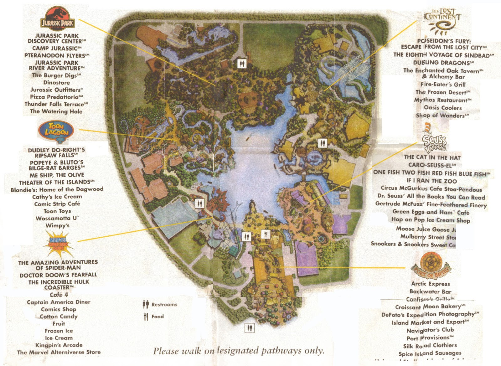 newsplusnotes from the vault early islands of adventure map - from the vault early islands of adventure map