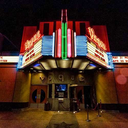 The Vogue Theater front exterior
