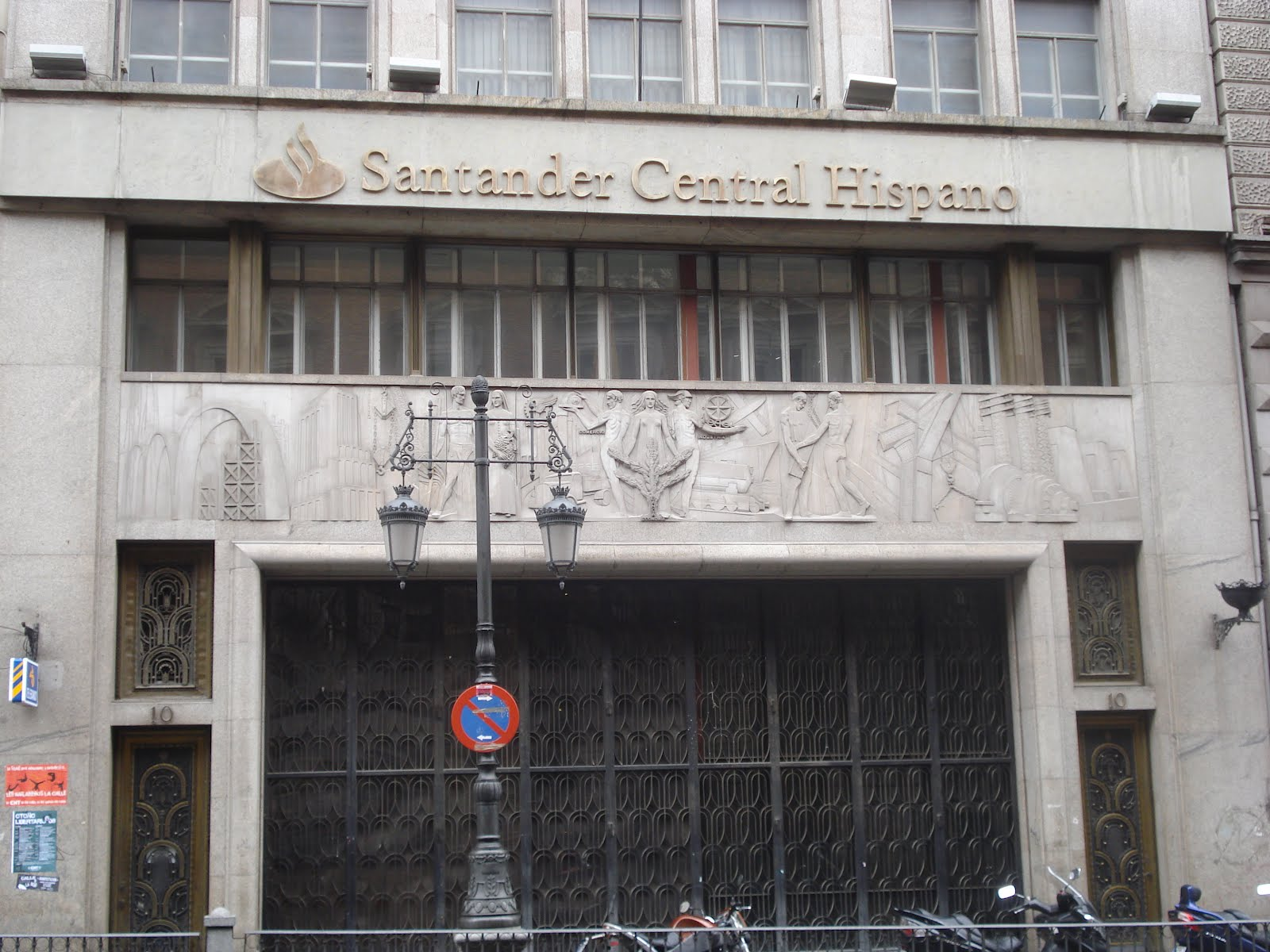 Madrid art dec santander central hispano puertas for Banco santander oficina central madrid