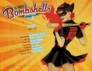 Page 1 of DC Comics Bombshells #19 featuring Batwoman