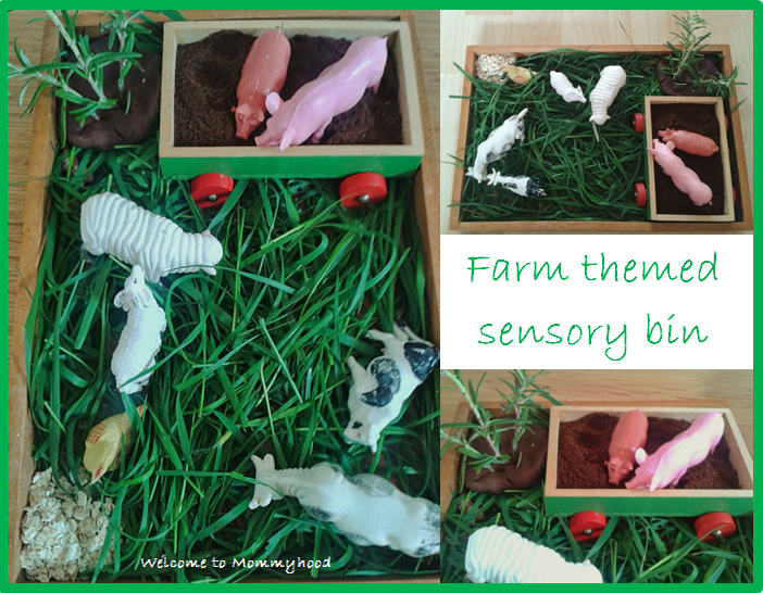 Welcome to Mommyhood: Toddler activities - farm sensory play