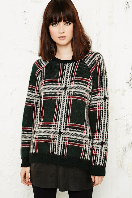 urban outfitters check jumper