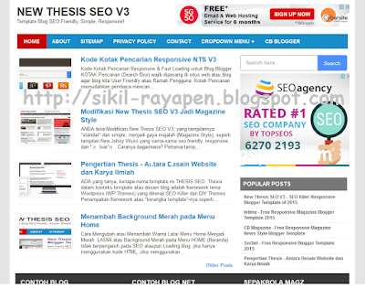 New Thesis SEO V3 - Fastest Loading Responsive Blogger Template 2015