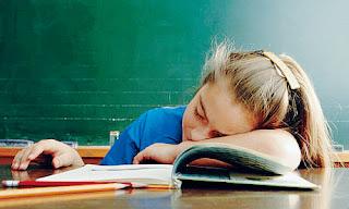 kid asleep in class