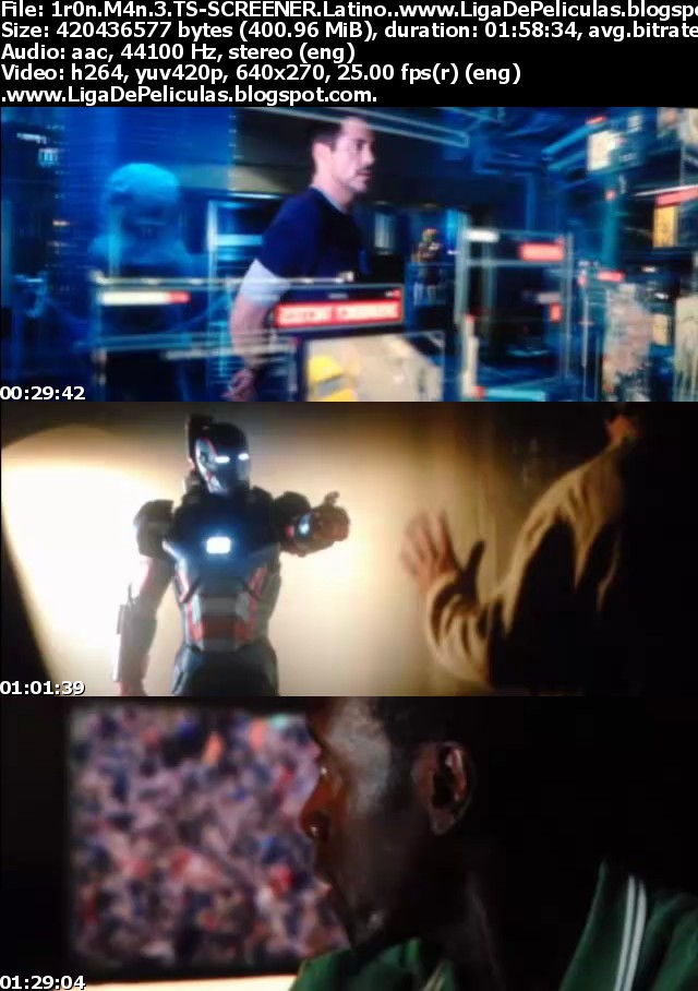 Iron Man 3 [2013] [Cam] [3gp-Mp4] [320x240] [Latino] [BS-DF-UB-UL-BU]