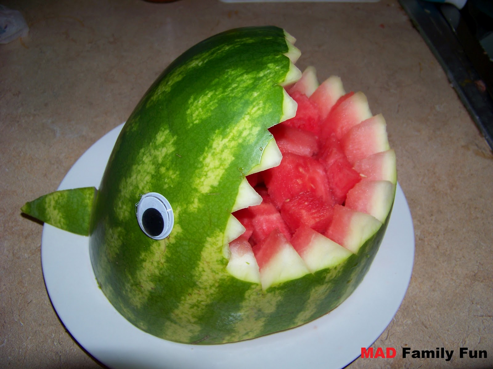 Mad family fun shark watermelon anyone can make this
