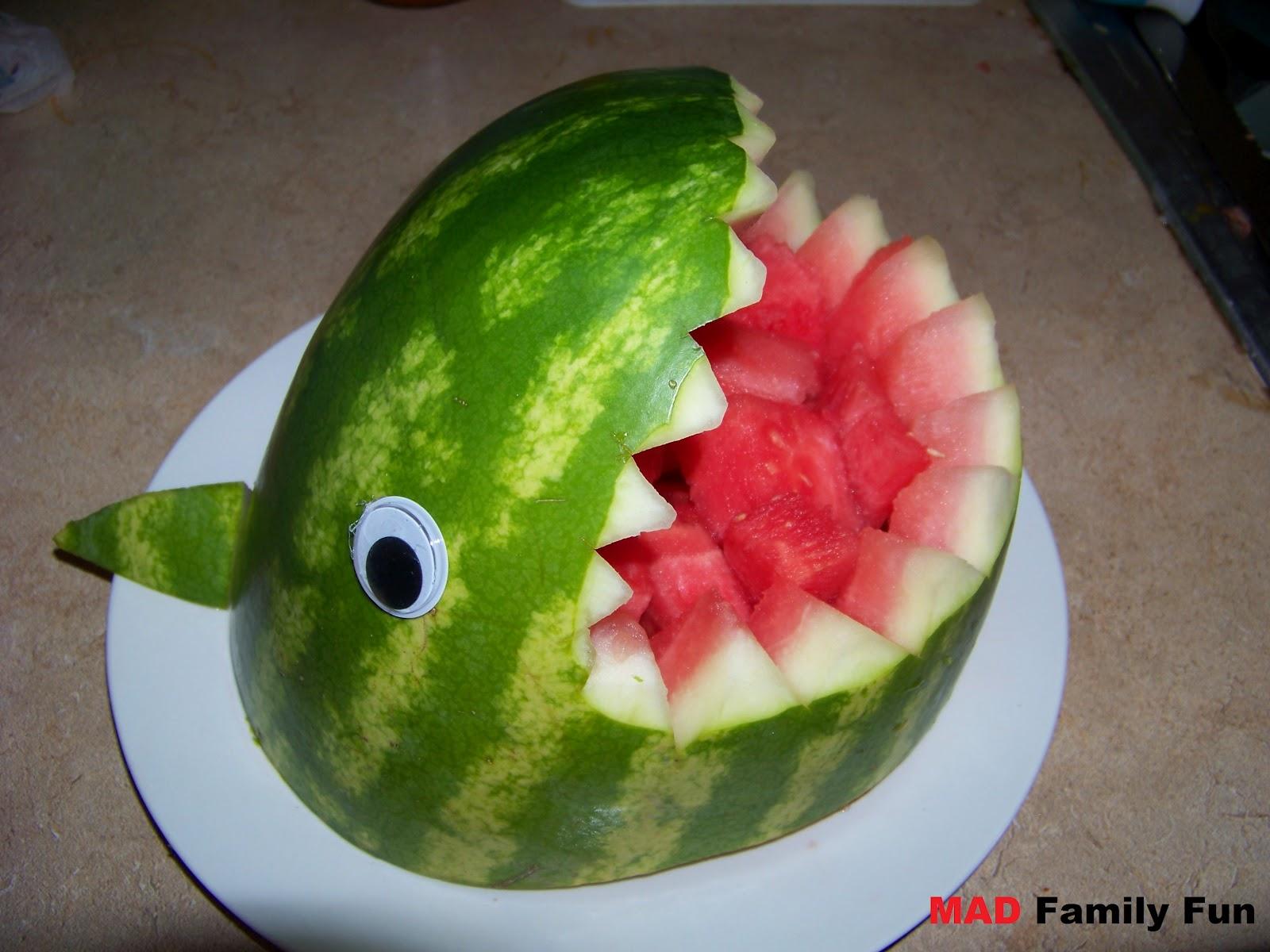 Mad family fun shark watermelon anyone can make this