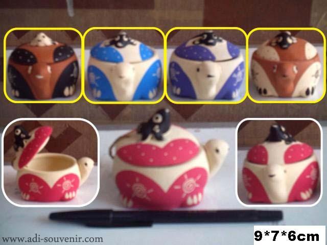 Keramik Tempat Perhiasan Kura-kura KTPH 9 | Adi - Souvenir