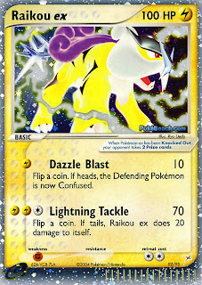 Raikou ex Pokemon Card EX Team Magma vs. Team Aqua Set