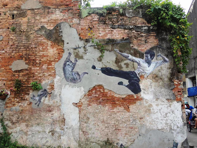 bruce lee mural arts armenian street pulau pinang