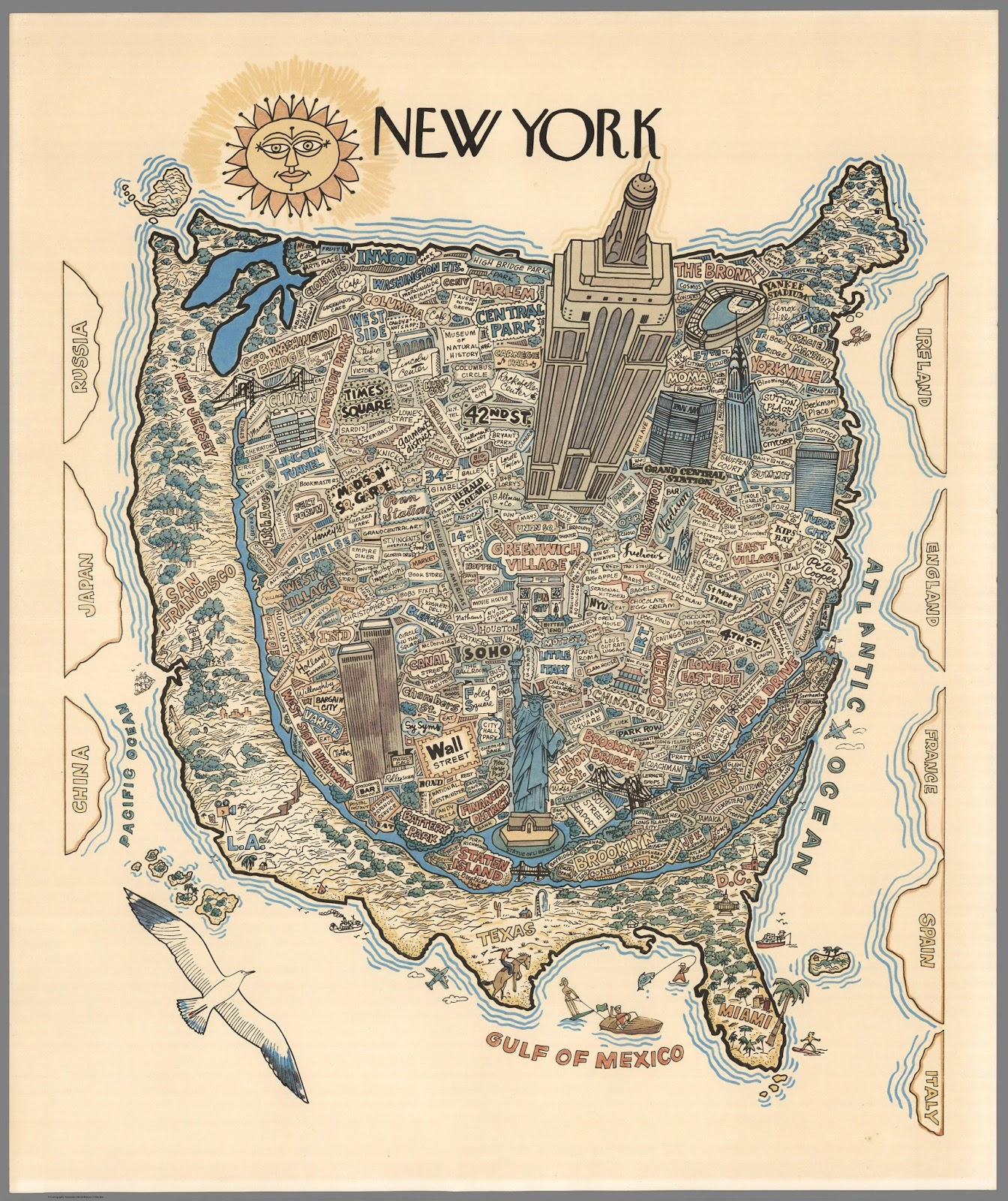The World as seen from New York City (1970)