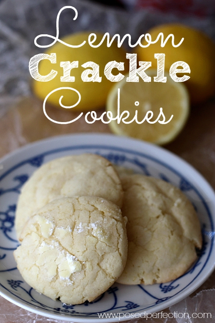 These Lemon Crackle Cookies are  light, slightly crunchy on the outside, and tender on the inside... everything that a lemon cookie should be.