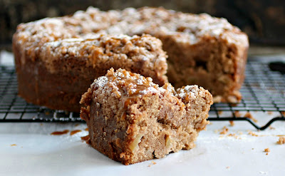 Caramel Apple Sour Cream Coffee Cake