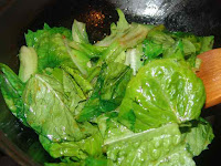 Chinese recipe with stir fried lettuce