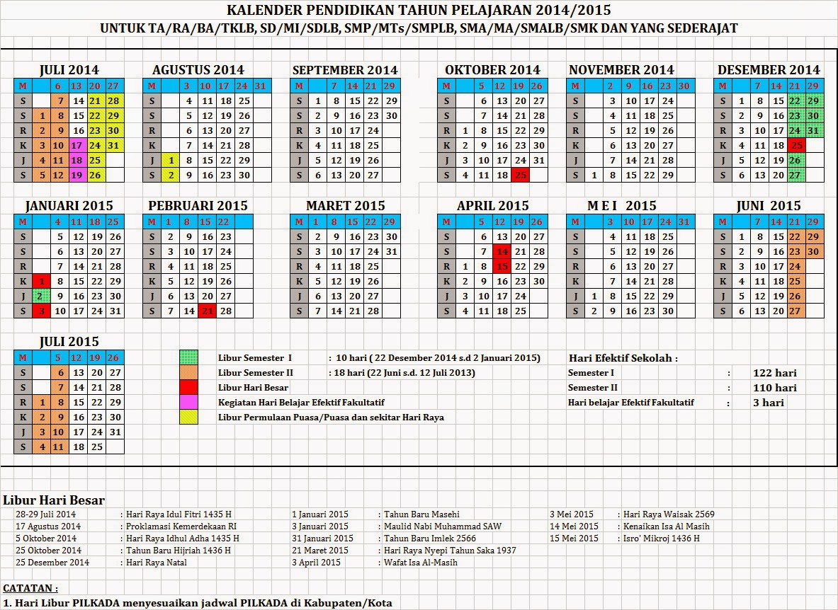 kalender indonesia 2014 2015 new calendar template site. Black Bedroom Furniture Sets. Home Design Ideas
