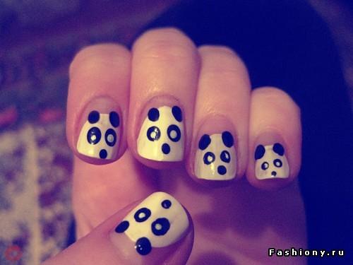 Лёгкие рисунки на ногтях