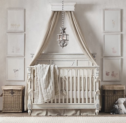 Heirloom White Carved Wood Canopy Bed Crown. Offered By Anthropologie.