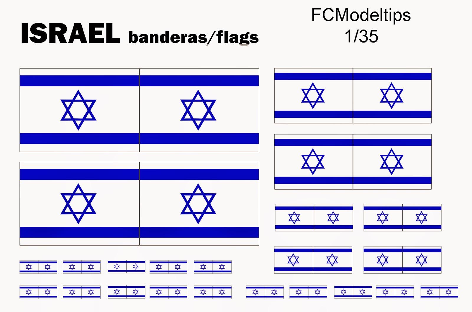 fcmodeltips banderas israel flags