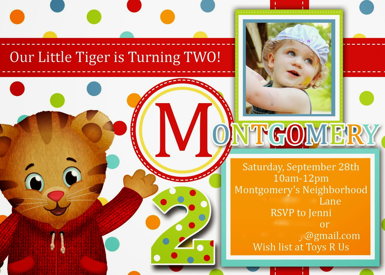 The Southern Front Door Montgomerys Daniel Tiger 2nd Birthday Party