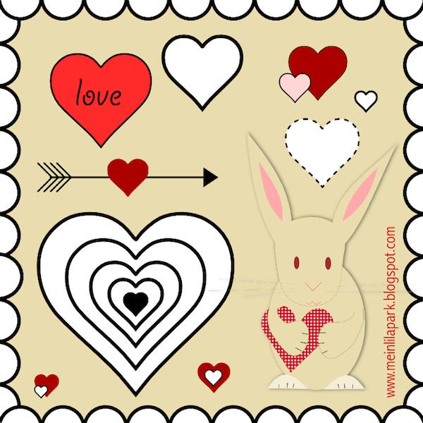 free digital heart scrapbooking embellishment + printable sheet ...