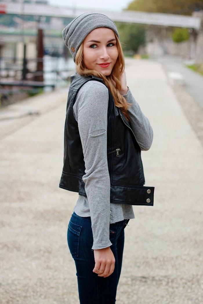 bonnet gris blogueuse