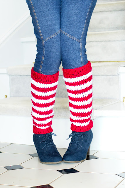 Free Crochet Pattern For Womens Leg Warmers : Hopeful Honey Craft, Crochet, Create: Adult Candy Cane ...