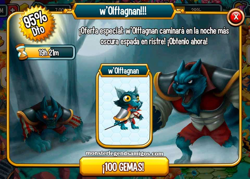 imagen de la oferta especial del monstruo w'Olftagnan